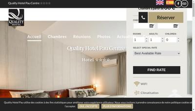 Site internet de Hotel Kyriad Pau Centre