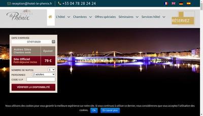 Site internet de Hotel le Phenix