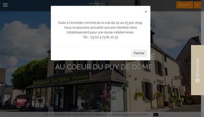 Site internet de Hotel Restaurant de la Poste
