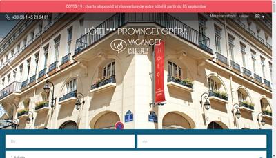 Site internet de Hotel des Provinces