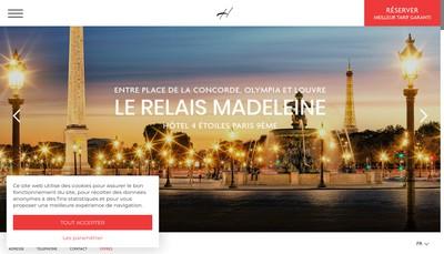 Site internet de Le Relais Madeleine