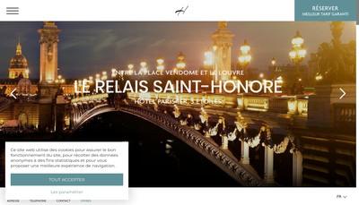 Site internet de Relais Saint Honore