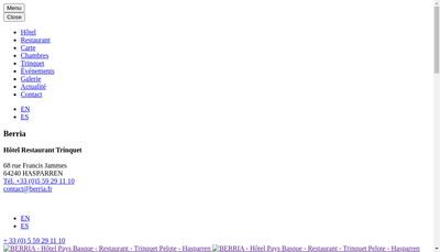 Site internet de Berria