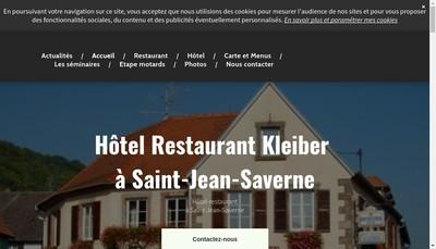 Site internet de Hotel-Restaurant Kleiber