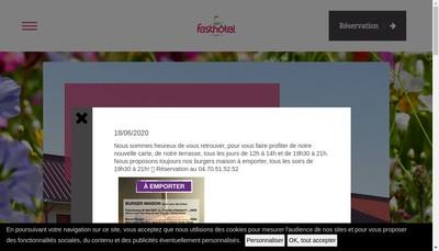 Site internet de Fasthotel Montmarault