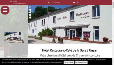 Site internet de Cafe Hotel Restaurant de la Gare