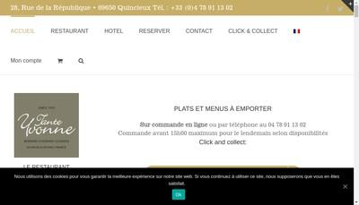 Site internet de Restaurant Tante Yvonne