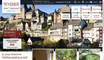 Site internet de Hotel Jean Teyssier