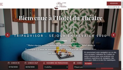 Site internet de Societe Hotel du Theatre