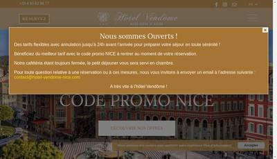 Site internet de Hotel Vendome