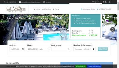 Site internet de La Villa