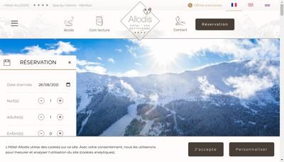 Site internet de Hotel Allodis