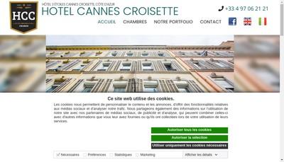 Site internet de Hotel Cannes Croisette