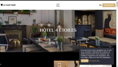 Site internet de Hotel du Chat Noir