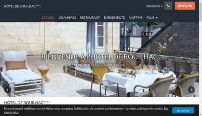 Site internet de Hotel Restaurant de Bouilhac