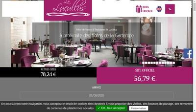Site internet de Restaurant le Lucullus-Hotel de France
