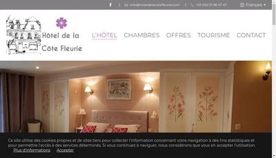 Site internet de Hotel de la Cote Fleurie