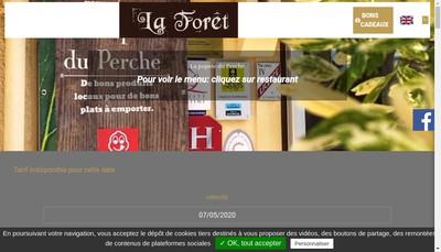 Site internet de Hotel de la Foret