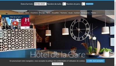 Site internet de Hotel de la Gare