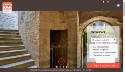 Site internet de Hotel de l'Atelier