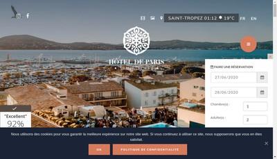Site internet de Hotel de Paris Saint-Tropez