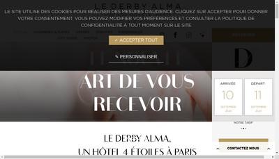 Site internet de Derby Alma Hotel