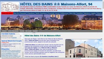 Site internet de Hotel des Bains