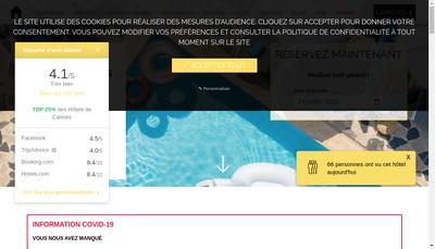 Site internet de Hotel des Orangers