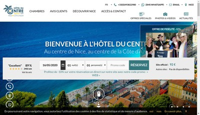 Site internet de Hotel du Centre