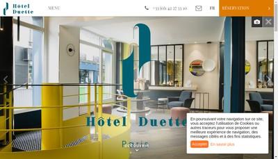 Site internet de Hotel Duette Paris