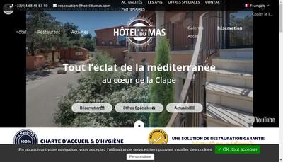 Site internet de Hotel du Mas