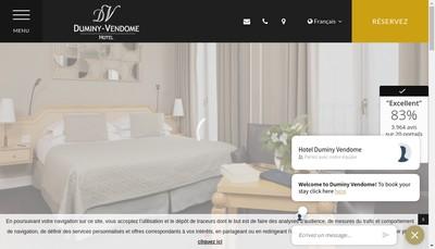 Site internet de Hotel Duminy