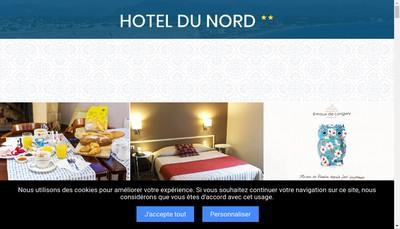 Site internet de Hotel du Nord