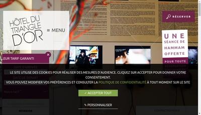 Site internet de Hotel des Capucines