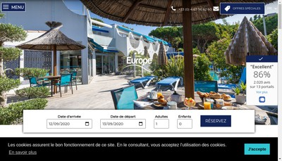 Site internet de Hotel Europe Palais des Congres
