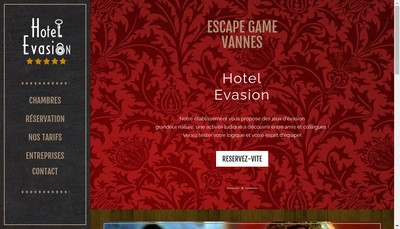 Site internet de Hotel Evasion