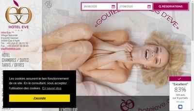 Site internet de Hotel Eve