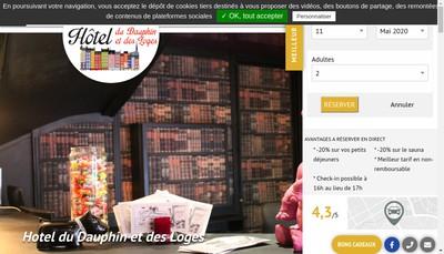 Site internet de Hotel du Dauphin