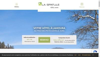 Site internet de Hotel la Spatule