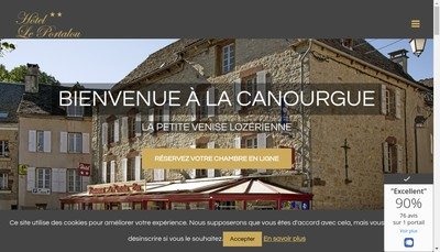 Site internet de Hotel le Portalou