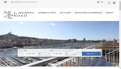 Site internet de Hotel Hermes