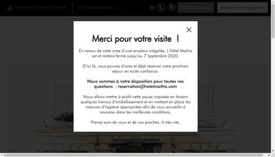 Site internet de Hotel Mathis