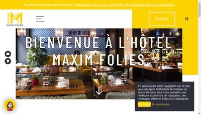Site internet de Maxim Folies