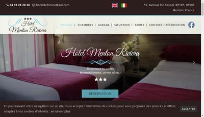 Site internet de Hotel Menton Riviera