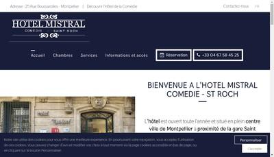 Site internet de Gestion Hotel Mistral