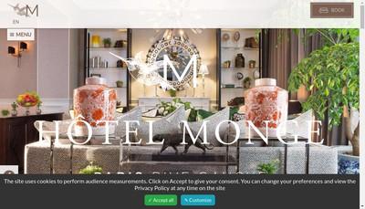 Site internet de L'Hotel Oratio