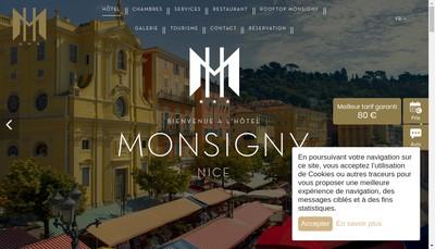 Site internet de Hotel Monsigny Nice