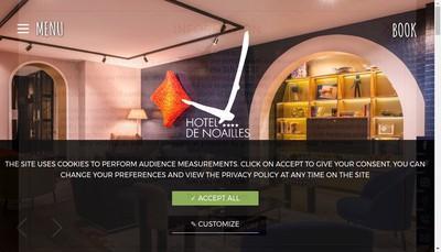Site internet de Hotel de Noailles