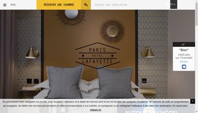 Site internet de Comfort Hotel Paris la Fayette