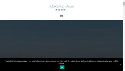 Site internet de Hotel Point de France